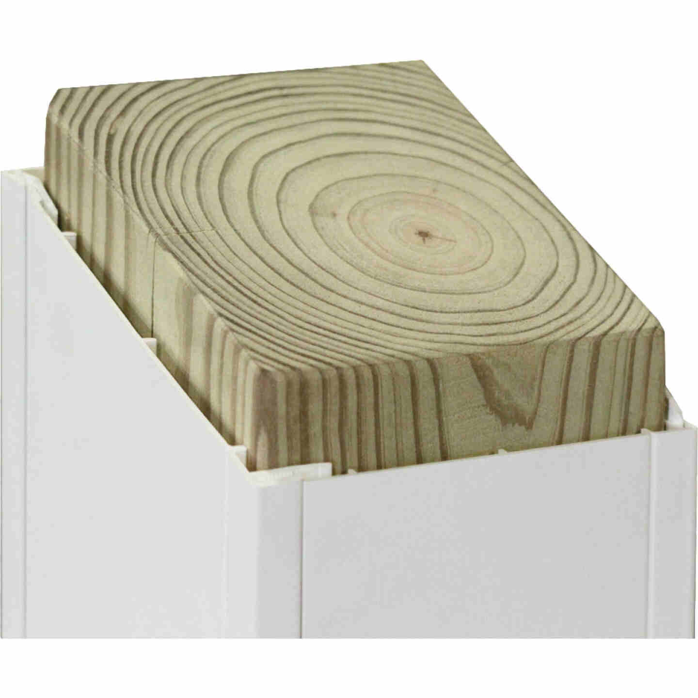 Beechdale 4 In. W. x 4 In. H. x 120 In. L. White PVC Smooth Post Wrap Image 2
