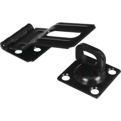 National V32 3-1/4 In. Black Swivel Hasp