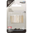 National 1 In. x 1 In. Antique Brass Hinge (2-Pack) Image 2