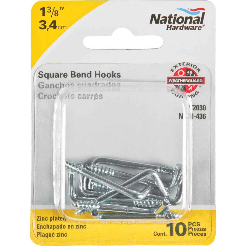 National 2030 Series #112 Square Bend Screw Hook Shoulder Hook (10 Count) Image 2