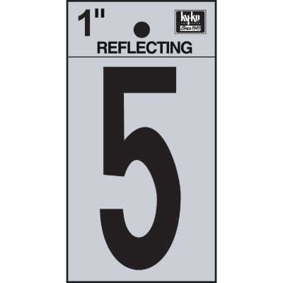 Hy-Ko Vinyl 1 In. Reflective Adhesive Number Five