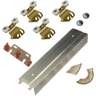 Johnson Hardware 72 In. Double Wheel Sliding Door Hardware