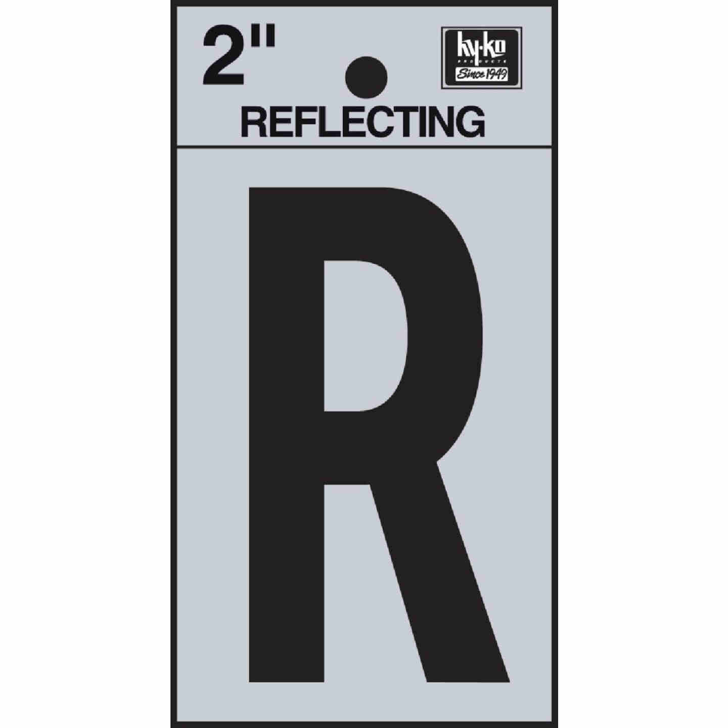 Hy-Ko Vinyl 2 In. Reflective Adhesive Letter, R Image 1
