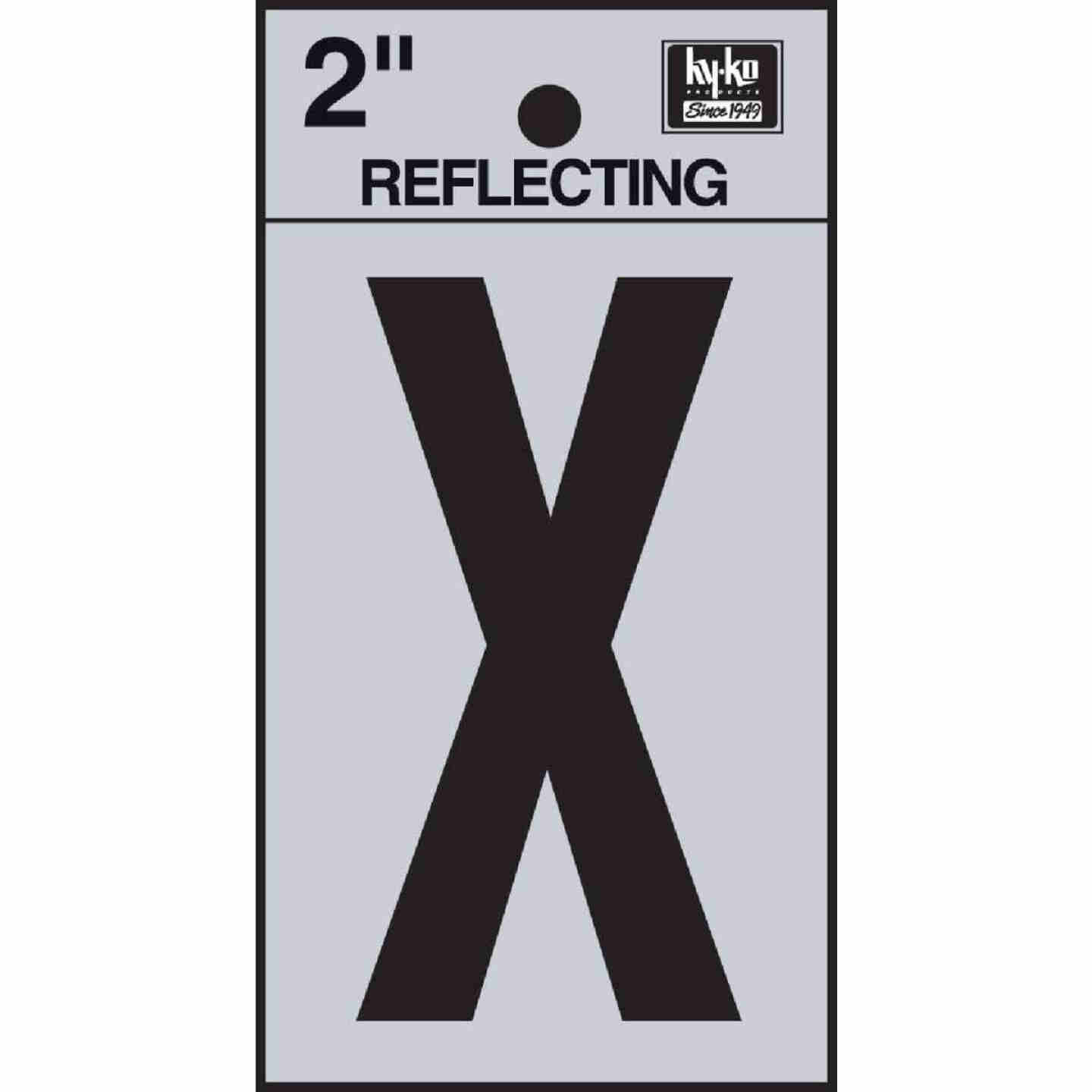 Hy-Ko Vinyl 2 In. Reflective Adhesive Letter, X Image 1