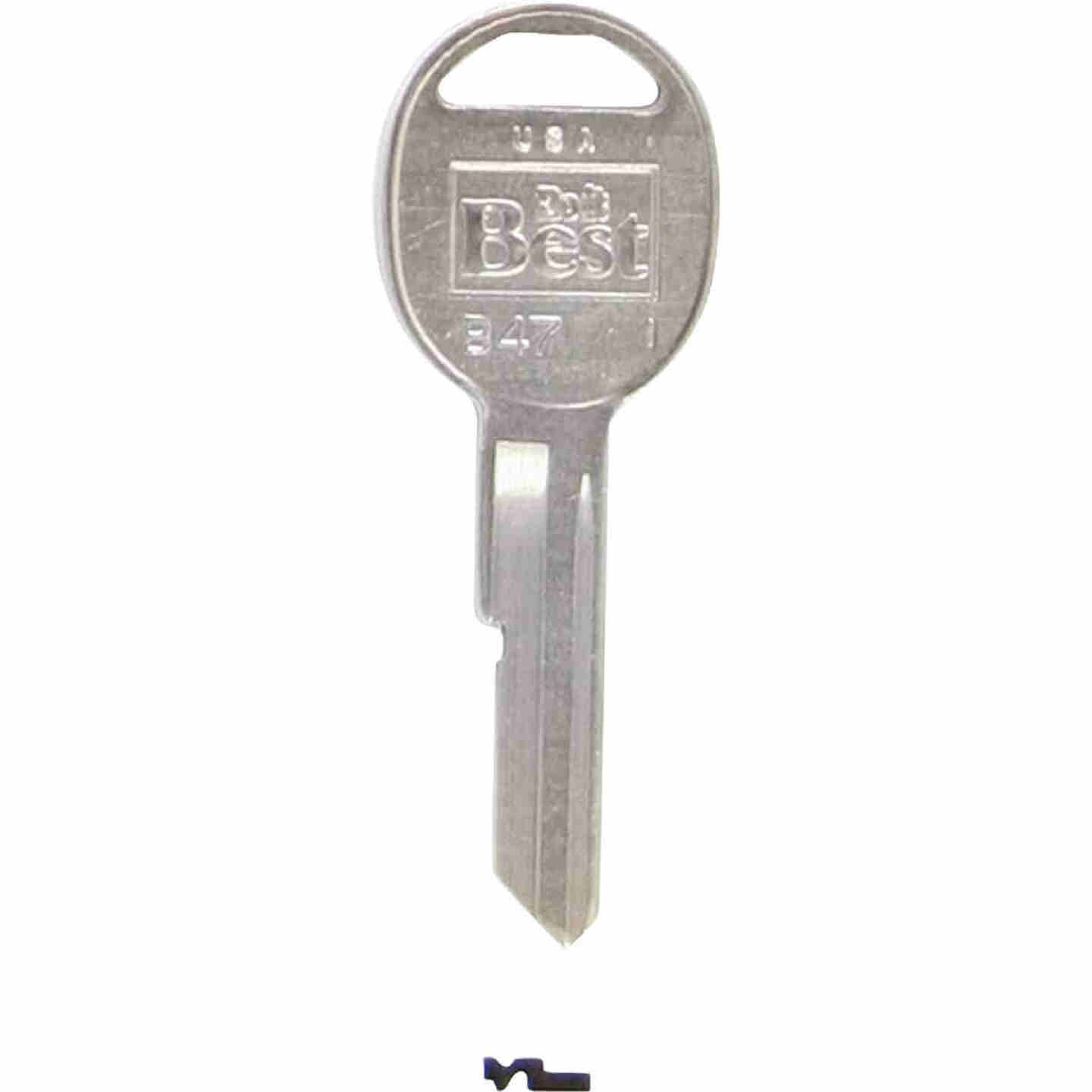 Do it Best GM Nickel Plated Automotive Key, B47 (10-Pack) Image 1