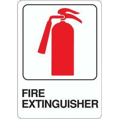 Hy-Ko Deco Series Heavy-Duty Plastic Sign, Fire Extinguisher