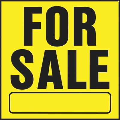 Hy-Ko Heavy Gauge Plastic Sign, For Sale