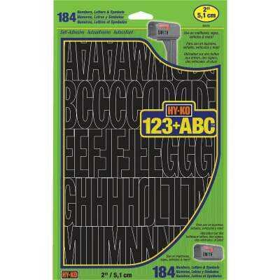 Hy-Ko 2 In. Black Vinyl Letters, Numbers & Symbols (184 Count)