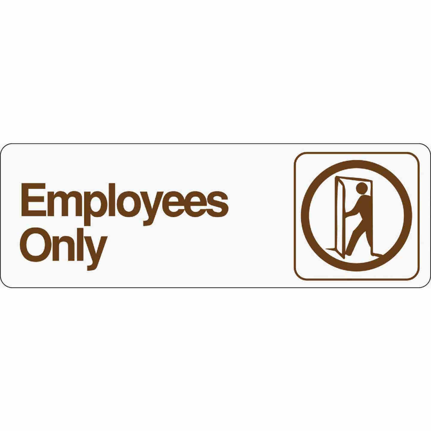 Hy-Ko Deco Series Plastic Sign, Employees Only Image 1