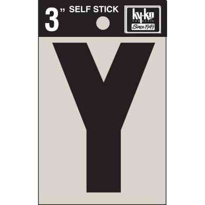 Hy-Ko Vinyl 3 In. Non-Reflective Adhesive Letter, Y