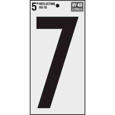 Hy-Ko Vinyl 5 In. Reflective Adhesive Number Seven