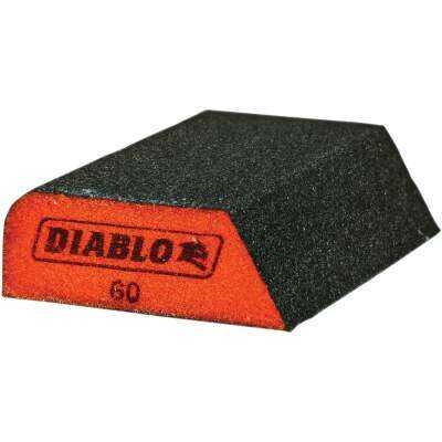Diablo 2-1/2 In. x 4 In. x 1 In. 60 Grit (Medium) Dual-Edge Sanding Sponge