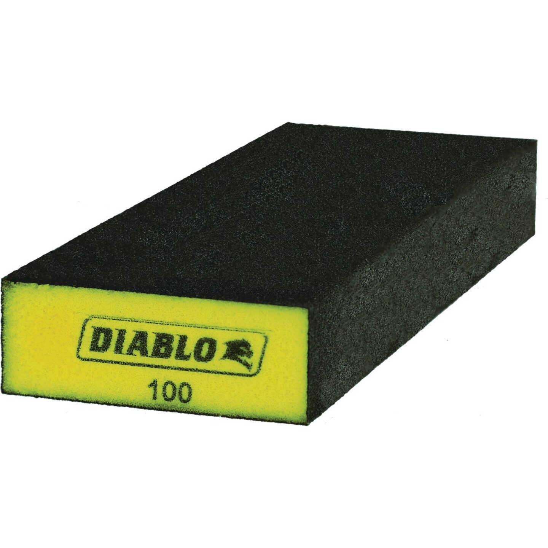 Diablo 3 In. x 8 In. x 1 In. 100-Grit (Fine) Extended Flat Edge Sanding Sponge Image 1