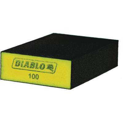 Diablo 2-1/2 In. x 4 In. x 1 In. 100 Grit (Fine) Flat Edge Sanding Sponge (3-Pack)