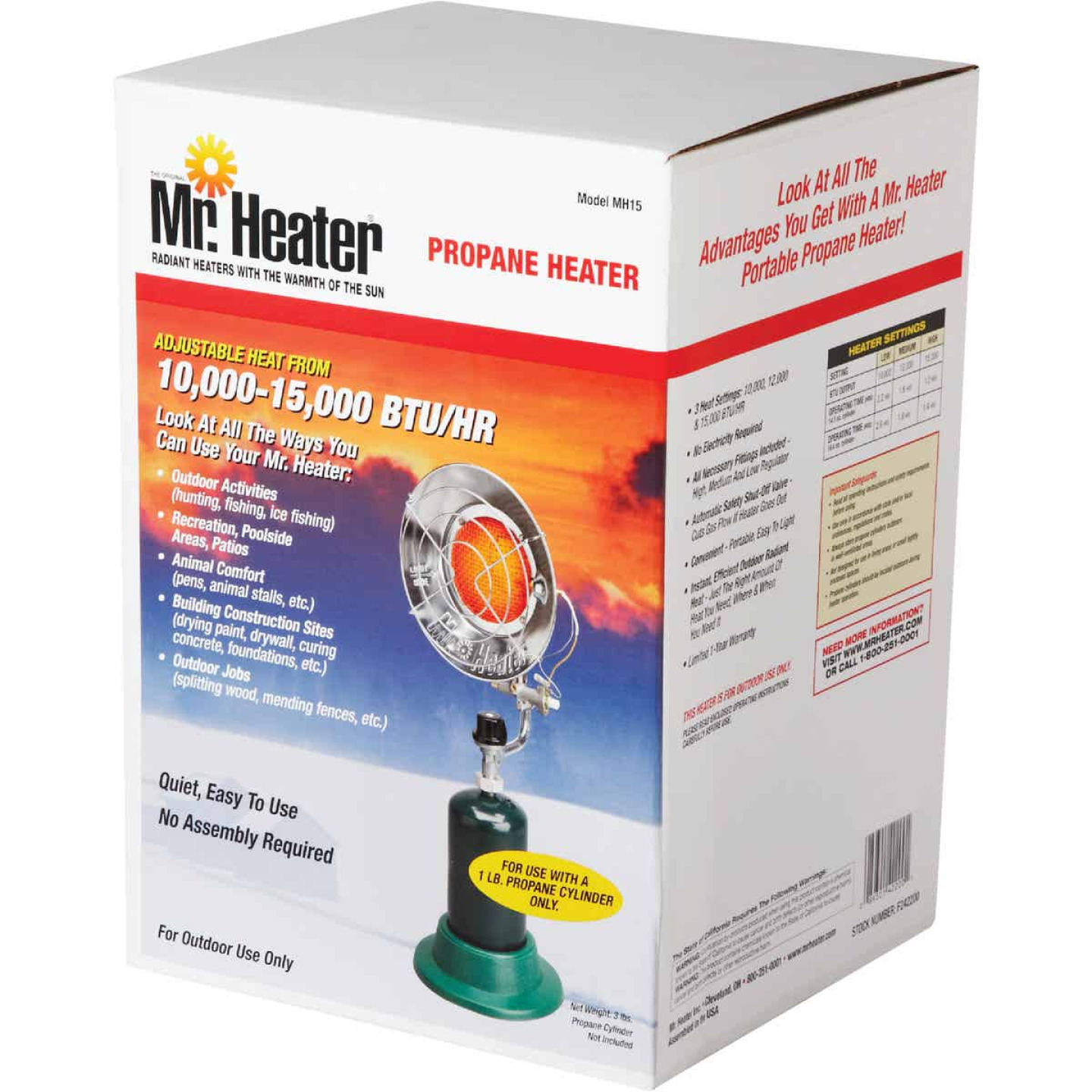 MR. HEATER 15,000 BTU Radiant Portable Tank Top Propane Heater Image 2