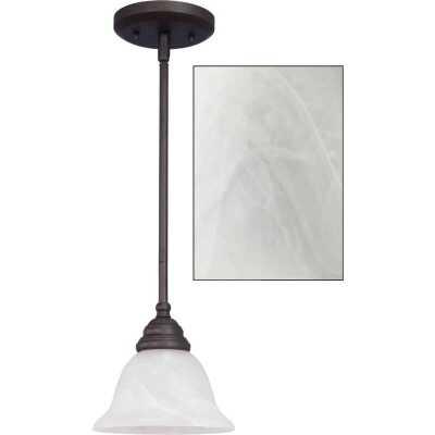 Home Impressions Julianna 1-Bulb Oil Rubbed Bronze Incandescent Pendant Light Fixture