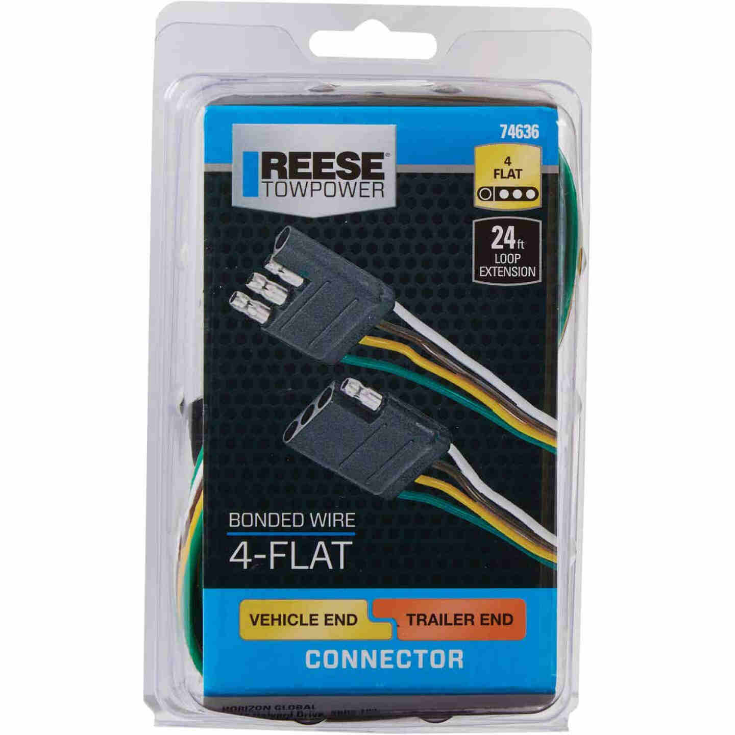 Reese Towpower 24 Ft. 4-Flat Loop Vehicle/Trailer Connector Set Image 2
