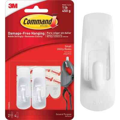 3M Command Small Utility Adhesive Hook (2-Pack)