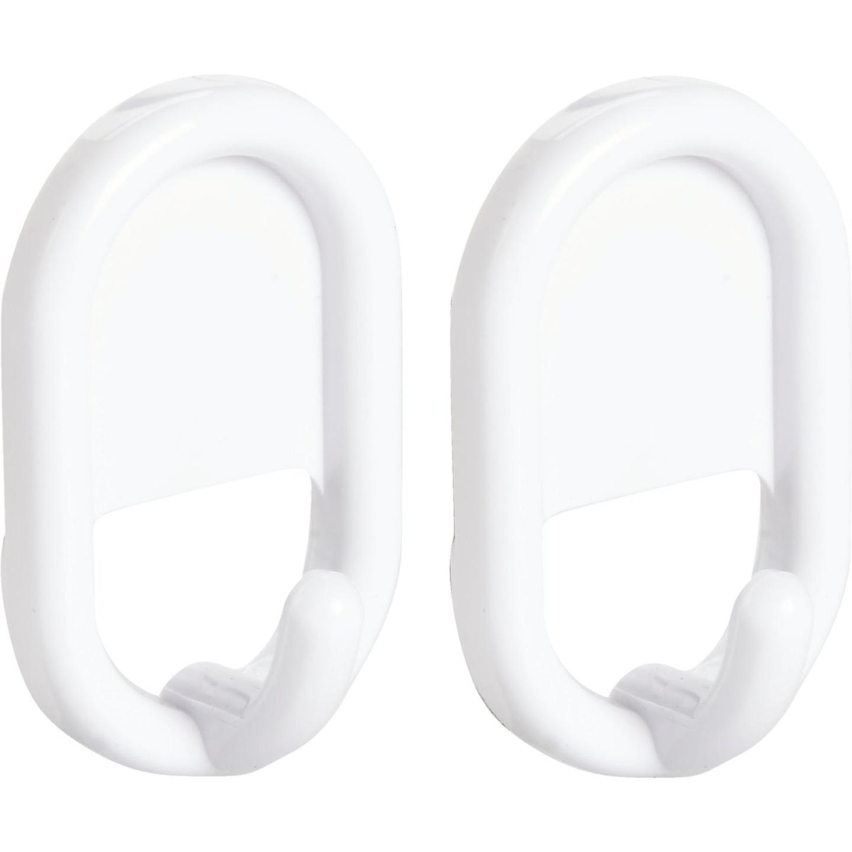 InterDesign Utility White Plastic Adhesive Hook (2-Pack) Image 1