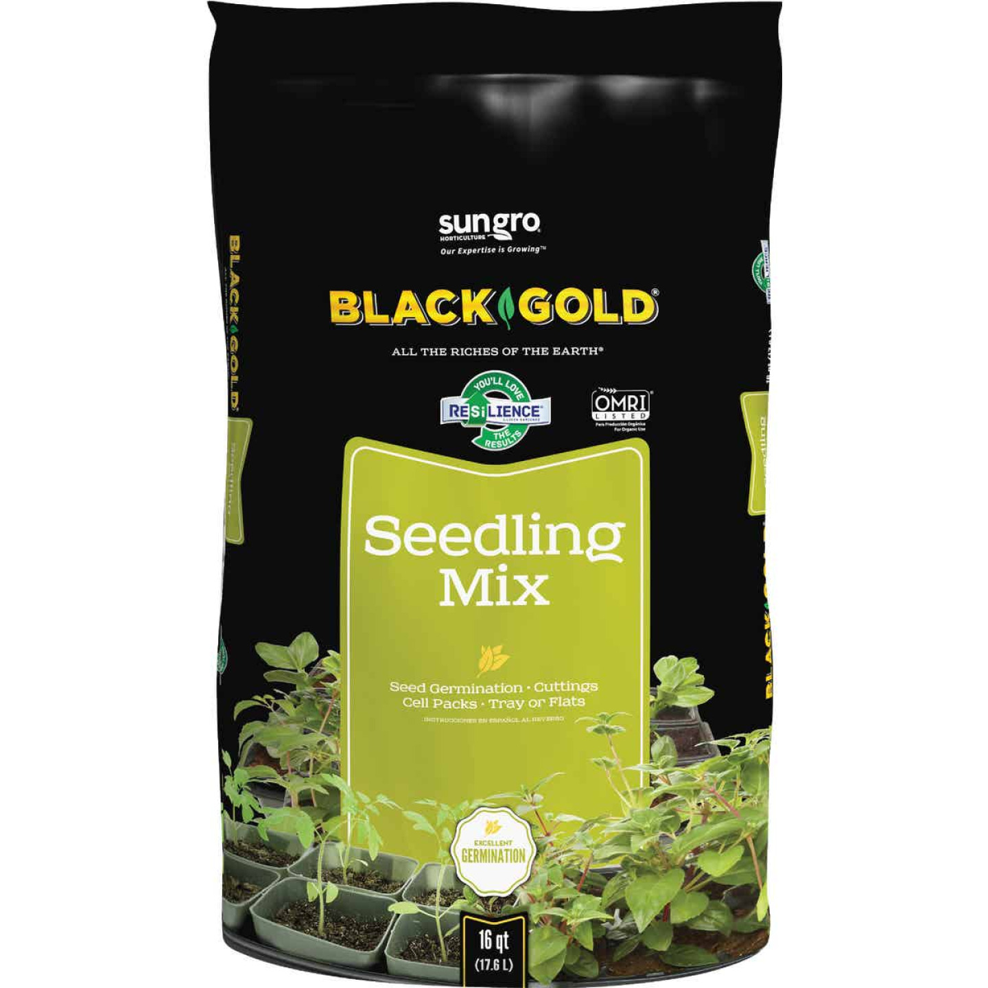 Black Gold 8 Qt. 6 Lb. All Purpose Container Potting Seed Starting Mix Image 1