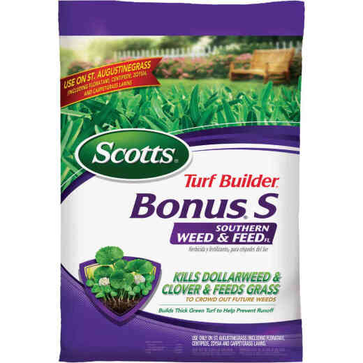 Scotts Turf Builder Bonus S Florida Weed & Feed 18.21 Lb. 5000 Sq. Ft. 29-0-10 Lawn Fertilizer with Weed Killer