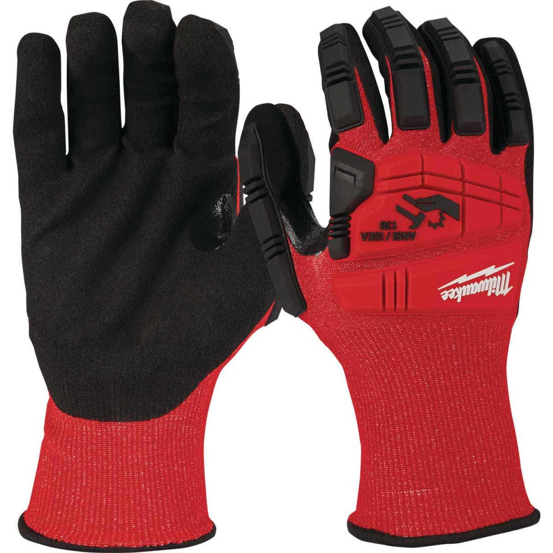 Milwaukee Impact Cut Level 3 Large Unisex Nitrile Dipped Work Gloves Image 3