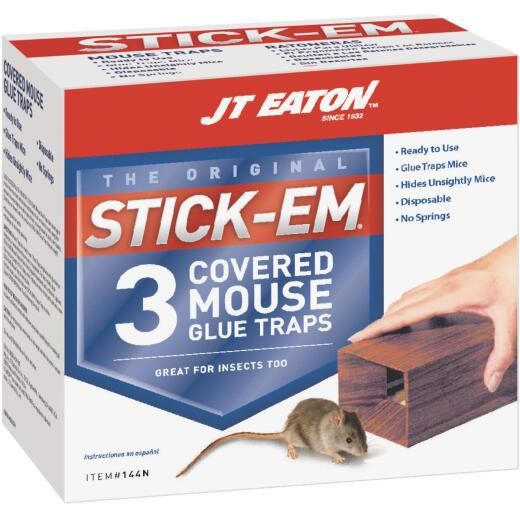 JT Eaton Stick-Em Glue Covered Mouse Trap (3-Pack)