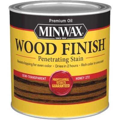 Minwax Wood Finish Penetrating Stain, Honey, 1/2 Pt.