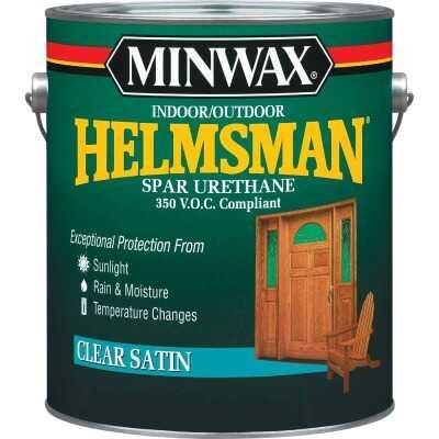 Minwax Helmsman Satin Clear Spar Urethane, 1 Gal.