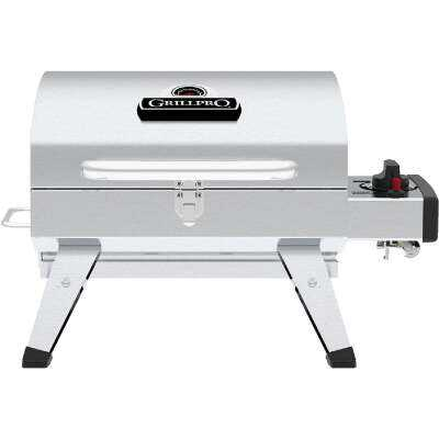GrillPro Silver 200 Sq. In. Propane Gas Portable Grill