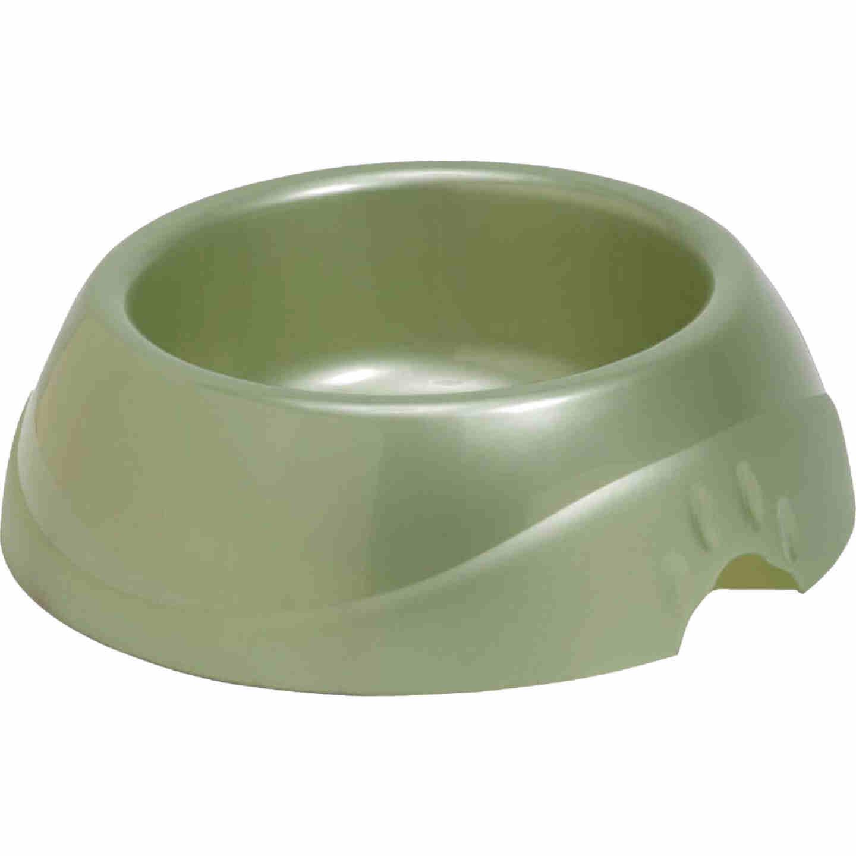 Petmate Plastic Round Large Designer Pet Food Bowl Image 1