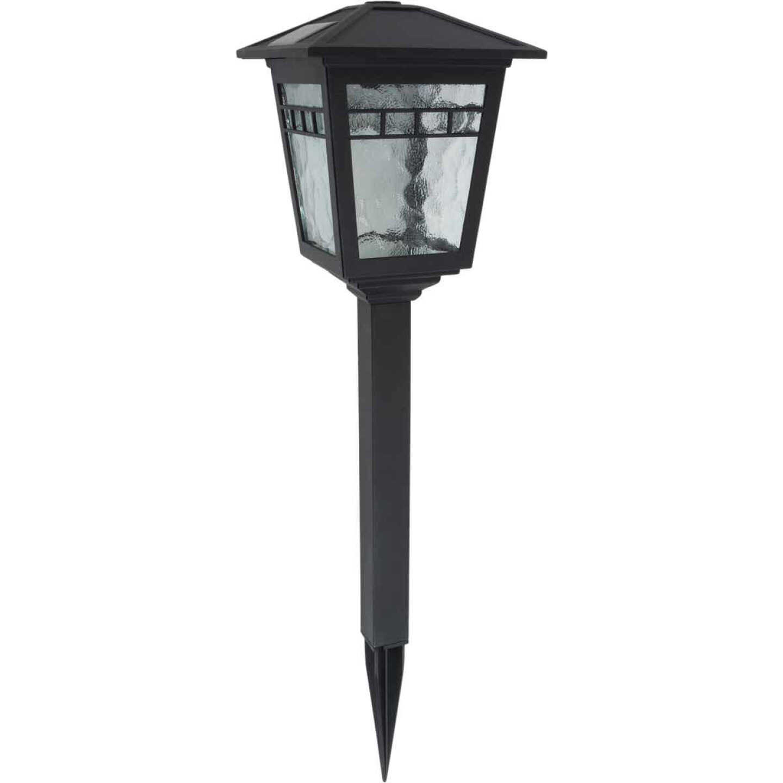Moonrays Black 10 Lumens Plastic Coach Solar Path Light Image 1